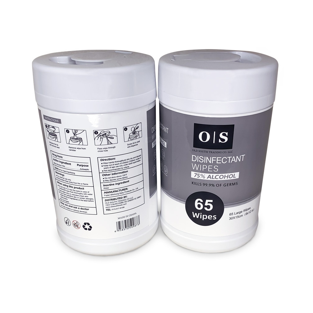 Disinfectant Wipes 75 % Alcohol     (65 Wipes)