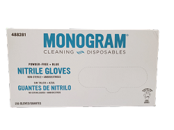 Elite Monogram Powder Free Blue Nitrile Gloves (250 Pack)