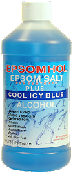 Epsomhol's Epsom Salt Plus Cool Icy Blue Alcohol
