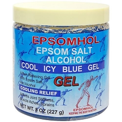 Epsomhol Epsom Salt Alcohol Cool Icy Blue Gel